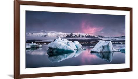 The Glacier Lagoon-Andreas Wonisch-Framed Art Print
