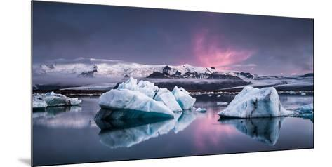 The Glacier Lagoon-Andreas Wonisch-Mounted Photographic Print