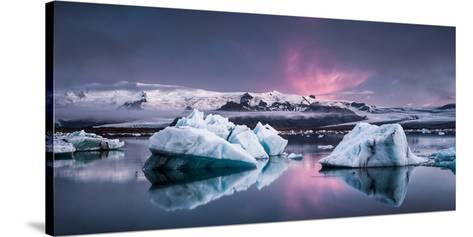 The Glacier Lagoon-Andreas Wonisch-Stretched Canvas Print