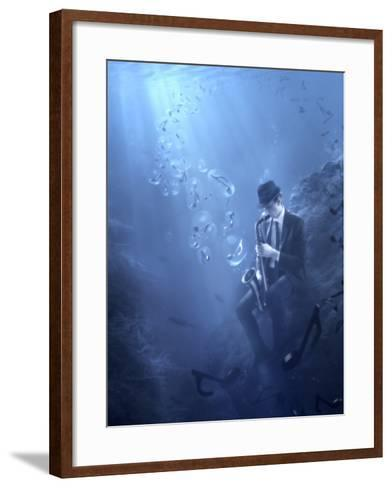 Blues-Christophe Kiciak-Framed Art Print