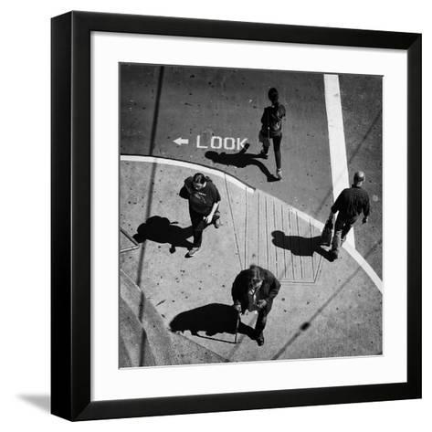 Look-Jianwei Yang-Framed Art Print