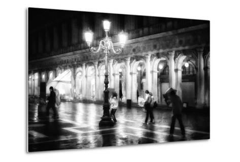 Apart From Storm and Rain ...-Roswitha Schleicher-Schwarz-Metal Print