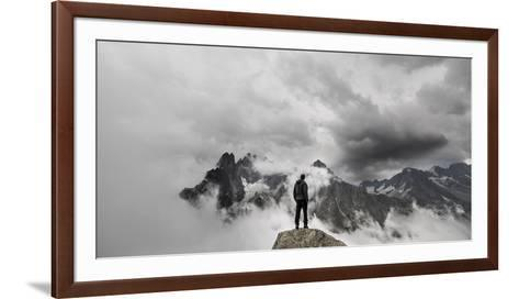 In the Clouds- Michal-Framed Art Print
