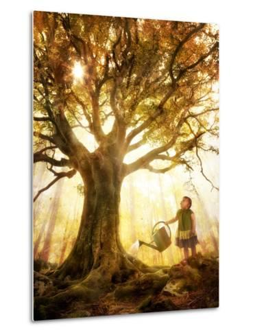 Growing Up Is Made of Small Things-Christophe Kiciak-Metal Print