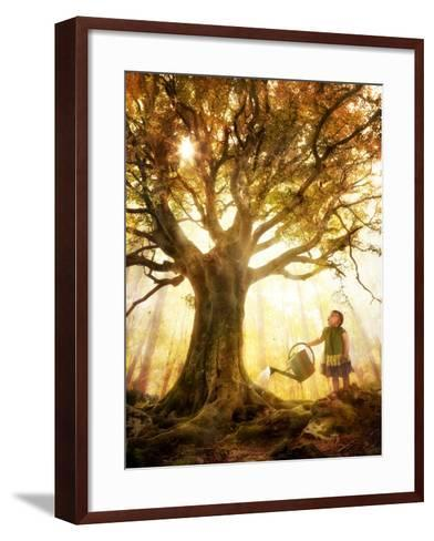 Growing Up Is Made of Small Things-Christophe Kiciak-Framed Art Print