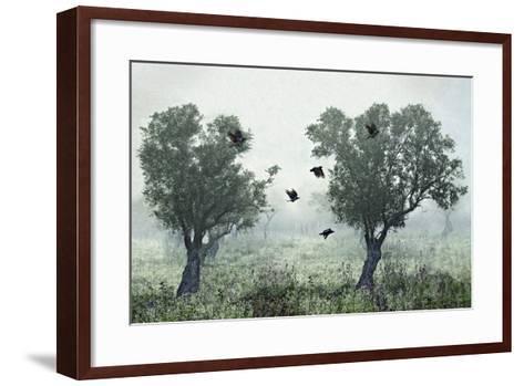 Crows in the Mist-S. Amer-Framed Art Print