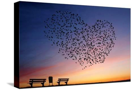 Love Is in the Air- Annemieke-Stretched Canvas Print