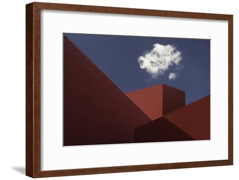 Red Shapes-Hugo Borges-Framed Art Print