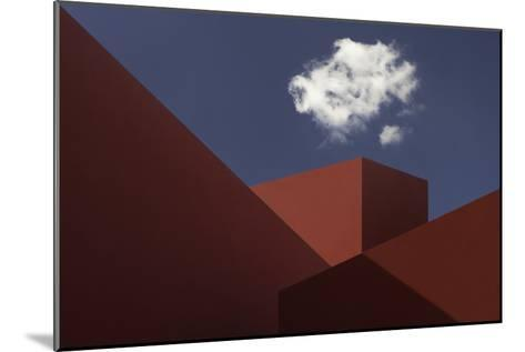 Red Shapes-Hugo Borges-Mounted Photographic Print