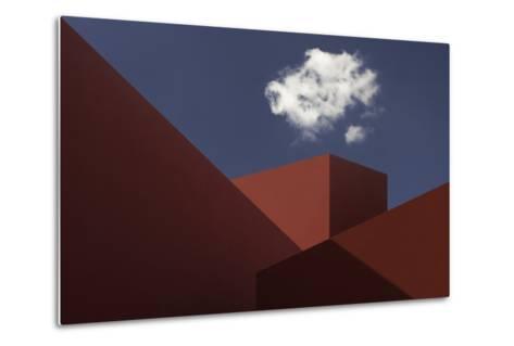 Red Shapes-Hugo Borges-Metal Print