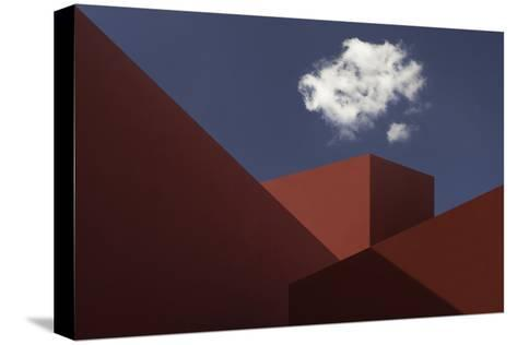 Red Shapes-Hugo Borges-Stretched Canvas Print