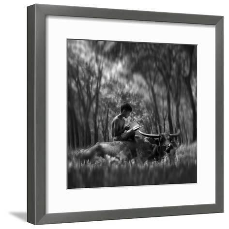 Learn Spirit-Antonyus Bunjamin (Abe)-Framed Art Print