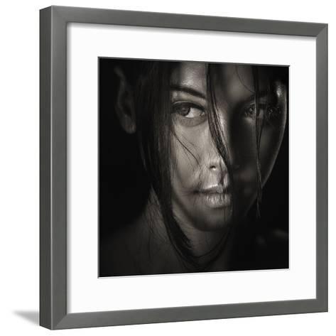 The Look-Ivan Lee-Framed Art Print