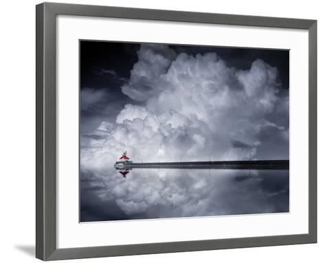 Cloud Desending-Like He-Framed Art Print