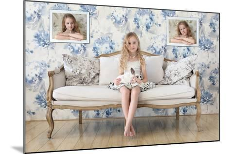 3 Little Girls and a White Rabbit-Victoria Ivanova-Mounted Photographic Print