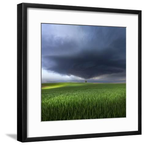 Thunderstorm Cell Over the Alb Plateau-Franz Schumacher-Framed Art Print