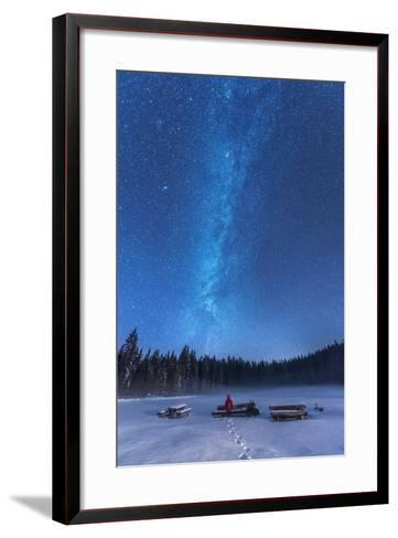 Under the Starry Night-Ales Krivec-Framed Art Print