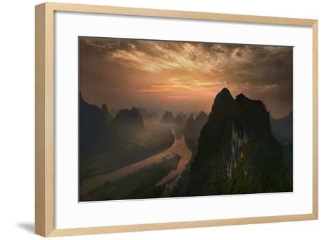 Dawn At Li River-Mieke Suharini-Framed Art Print