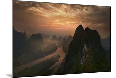 Dawn At Li River-Mieke Suharini-Mounted Photographic Print