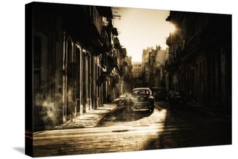 Mystic Morning in Havana...-Baris Akpinar-Stretched Canvas Print