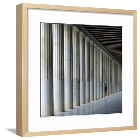 Stoa of Attalos-Vasilis Protopapas-Framed Art Print