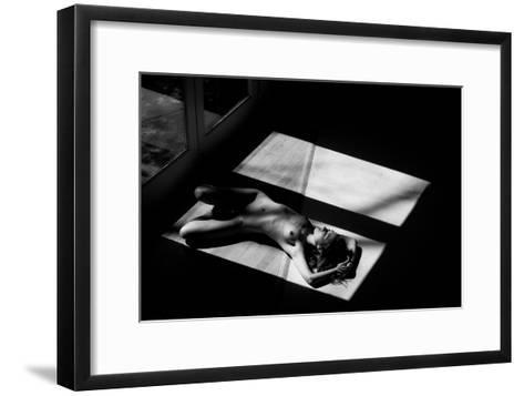 Half- Jae-Framed Art Print