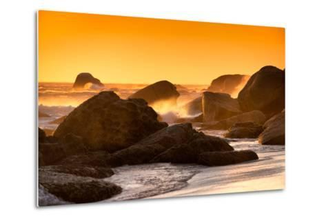 Awesome South Africa Collection - Sunset on Sea Stacks-Philippe Hugonnard-Metal Print