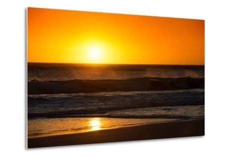 Awesome South Africa Collection - Sunset Blazing Sun over the Ocean-Philippe Hugonnard-Metal Print