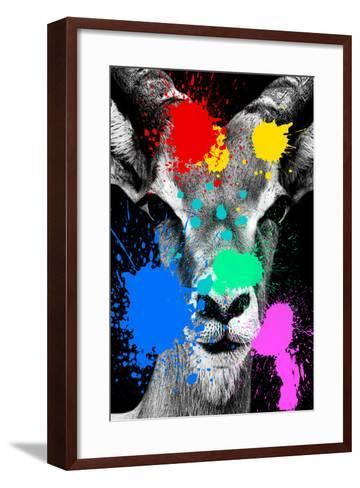 Safari Colors Pop Collection - Antelope Reedbuck II-Philippe Hugonnard-Framed Art Print