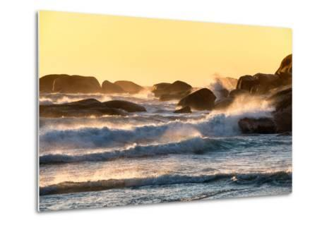 Awesome South Africa Collection - Powerful Ocean Wave at Sunset-Philippe Hugonnard-Metal Print