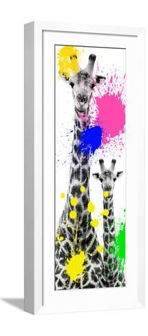 Safari Colors Pop Collection - Giraffes III-Philippe Hugonnard-Framed Art Print