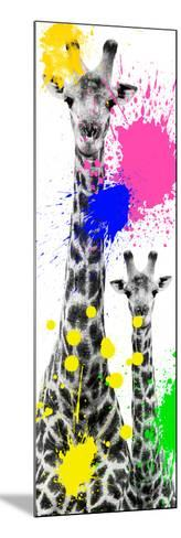 Safari Colors Pop Collection - Giraffes III-Philippe Hugonnard-Mounted Giclee Print