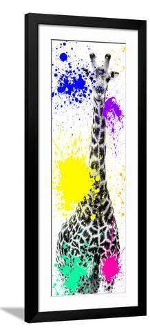 Safari Colors Pop Collection - Giraffe X-Philippe Hugonnard-Framed Art Print