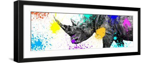 Safari Colors Pop Collection - Rhino Portrait V-Philippe Hugonnard-Framed Art Print