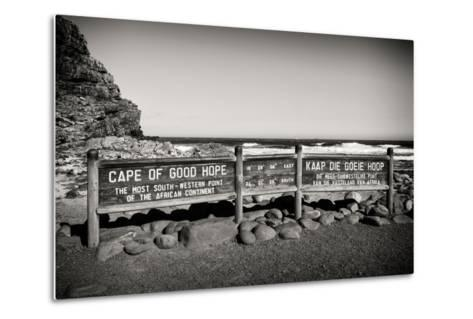 Awesome South Africa Collection B&W - Cape of Good Hope Sign-Philippe Hugonnard-Metal Print
