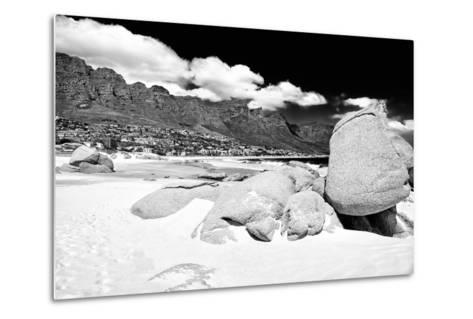 Awesome South Africa Collection B&W - The Twelve Apostles - Camps Bay-Philippe Hugonnard-Metal Print