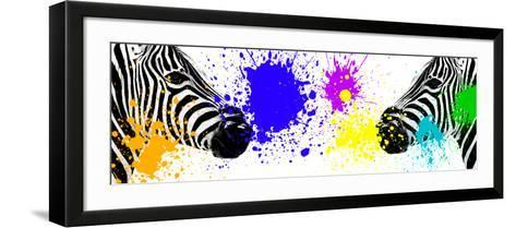 Safari Colors Pop Collection - Zebras Face to Face III-Philippe Hugonnard-Framed Art Print