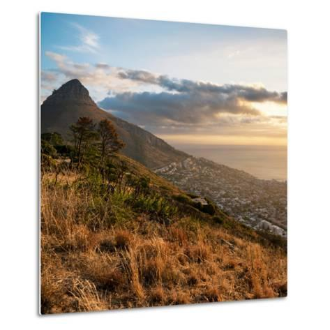 Awesome South Africa Collection Square - Cape Town at Sunset-Philippe Hugonnard-Metal Print