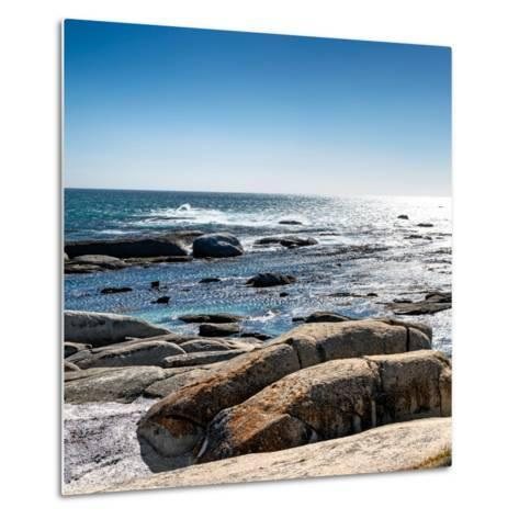 Awesome South Africa Collection Square - View of the South Atlantic Ocean II-Philippe Hugonnard-Metal Print