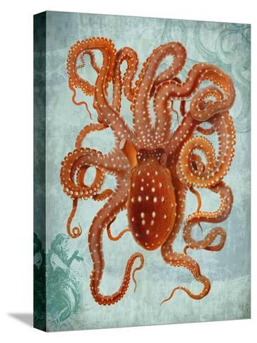 Octopus 2-Fab Funky-Stretched Canvas Print