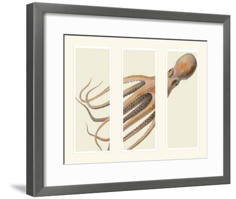 Octopus on 3 panels-Fab Funky-Framed Art Print