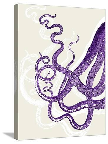 Octopus Tentacles Purple And White-Fab Funky-Stretched Canvas Print