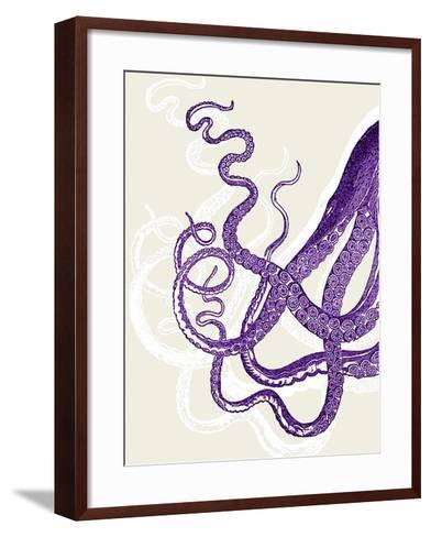 Octopus Tentacles Purple And White-Fab Funky-Framed Art Print