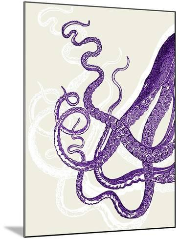 Octopus Tentacles Purple And White-Fab Funky-Mounted Art Print