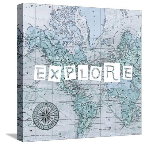 Map Words VI-Studio W-Stretched Canvas Print