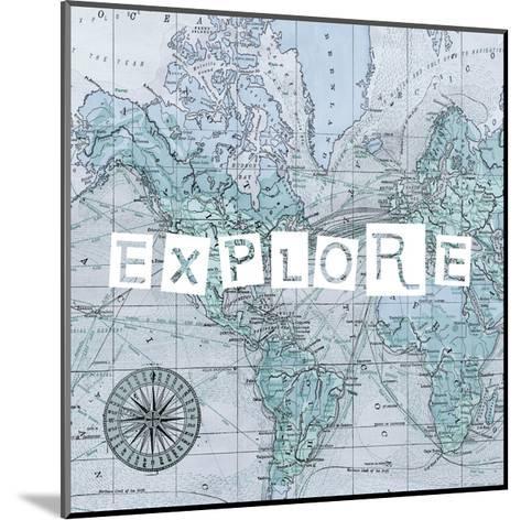 Map Words VI-Studio W-Mounted Art Print