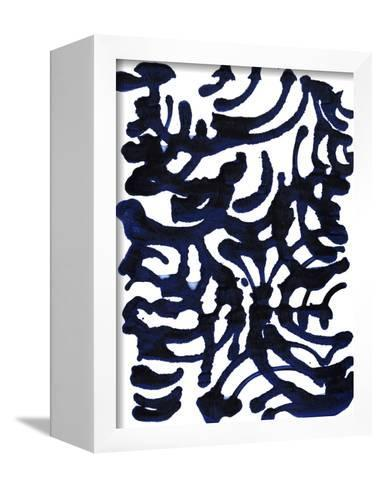Indigo Swirls I-Jodi Fuchs-Framed Canvas Print