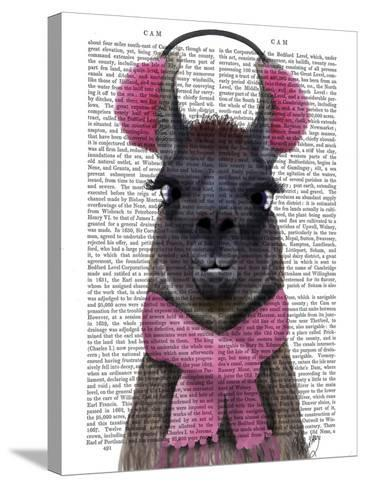Chilly Llama, Pink-Fab Funky-Stretched Canvas Print