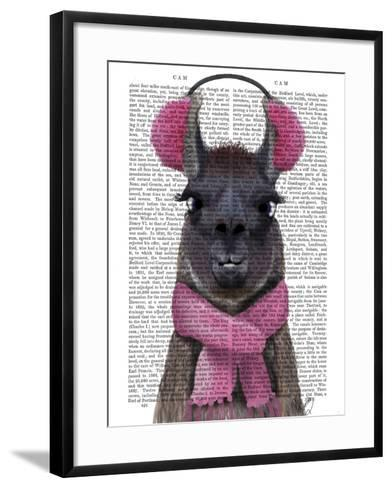 Chilly Llama, Pink-Fab Funky-Framed Art Print