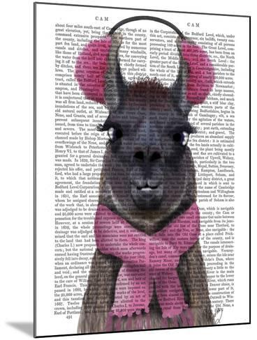 Chilly Llama, Pink-Fab Funky-Mounted Art Print